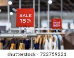 sale 15  off mock up advertise... | Shutterstock . vector #722759221
