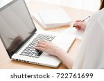e learning  personal computer ...   Shutterstock . vector #722761699