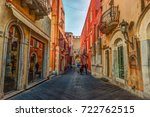 Old Street In Taormina  Sicily...