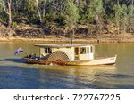 paddle boat billy tea on the... | Shutterstock . vector #722767225