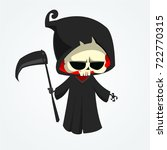grim reaper cartoon character... | Shutterstock .eps vector #722770315