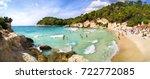 cala mitjana  menorca  balearic ... | Shutterstock . vector #722772085