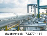 pipeline of process building at ... | Shutterstock . vector #722774464