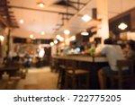blur focus.interiors inside...   Shutterstock . vector #722775205