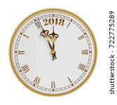 2018 old clock with roman... | Shutterstock .eps vector #722775289