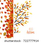 autumn background with colorful ... | Shutterstock .eps vector #722777914