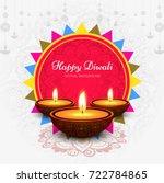modern elegant diwali design | Shutterstock .eps vector #722784865