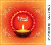 modern elegant diwali design | Shutterstock .eps vector #722784871
