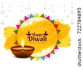 modern happy diwali background | Shutterstock .eps vector #722784895