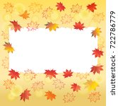 autumn background with space... | Shutterstock .eps vector #722786779