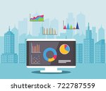 concept of real estate market... | Shutterstock .eps vector #722787559