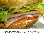 extreme closeup of sandwich.... | Shutterstock . vector #722787919