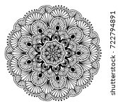 mandalas for coloring book.... | Shutterstock .eps vector #722794891