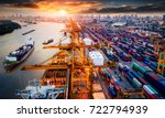logistics and transportation of ... | Shutterstock . vector #722794939