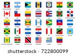 set of popular country flags.... | Shutterstock . vector #722800099