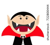 count dracula head face wearing ... | Shutterstock .eps vector #722800444