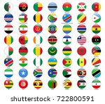 set of flags of all african... | Shutterstock . vector #722800591