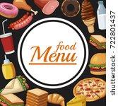 food restaurant menu | Shutterstock .eps vector #722801437