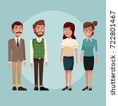 vintage school teachers | Shutterstock .eps vector #722801467