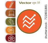 flat icon. financial schedule. | Shutterstock .eps vector #722801881