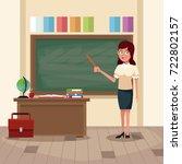teacher in classroom | Shutterstock .eps vector #722802157