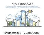 city landscape template with... | Shutterstock .eps vector #722803081
