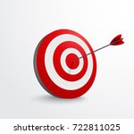 dart target with arrow  | Shutterstock . vector #722811025