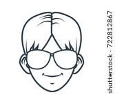 young man with sunglasses... | Shutterstock .eps vector #722812867