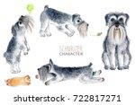 Schnauzer  Watercolor Dog...