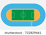 top view of soccer or football... | Shutterstock .eps vector #722829661