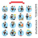 working day busy template... | Shutterstock . vector #722832595
