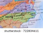 north carolina on the map | Shutterstock . vector #722834611