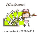 part time waitress job   ... | Shutterstock .eps vector #722836411