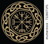 vegvisir   icelandic sign post... | Shutterstock .eps vector #722837191