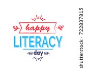 happy literacy day bright icon... | Shutterstock .eps vector #722837815
