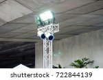 Small photo of Metal halide lights on poles trust set up lighting in the event