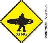 Stock vector bigfoot surf 722846071