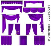 curtains and draperies interior ...   Shutterstock .eps vector #722847259