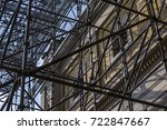 scaffolding against the...   Shutterstock . vector #722847667