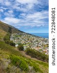 cape town seapoint suburb from... | Shutterstock . vector #722848081