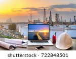 engineering industry office... | Shutterstock . vector #722848501
