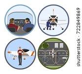 flight training academy. repair ... | Shutterstock .eps vector #722849869
