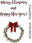 merry christmas. beautiful... | Shutterstock .eps vector #722849911