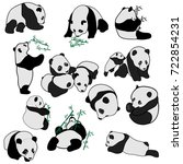 big set of vector panda... | Shutterstock .eps vector #722854231