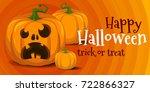 halloween pumpkin | Shutterstock .eps vector #722866327