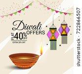 vector illustration of a sale... | Shutterstock .eps vector #722866507