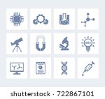 science  laboratory study and... | Shutterstock .eps vector #722867101