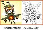 vector cartoon of animal... | Shutterstock .eps vector #722867839