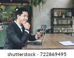 successful business people... | Shutterstock . vector #722869495