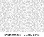 floral pattern. wallpaper... | Shutterstock . vector #722871541